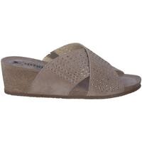 Schoenen Dames Leren slippers Mephisto MELODIESPARK Beige