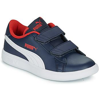 Schoenen Jongens Lage sneakers Puma SMASH V2 L V PS Marine