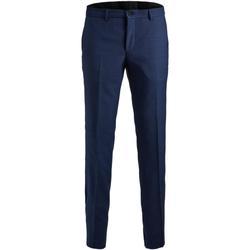Textiel Heren Anzughosen Jack & Jones 12141112 JPRSOLARIS TROUSER NOOS MEDIEVAL BLUE Azul
