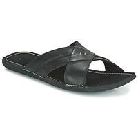 Schoenen Heren Leren slippers Kickers SPOCK Zwart