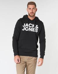 Textiel Heren Sweaters / Sweatshirts Jack & Jones JJECORP LOGO Zwart