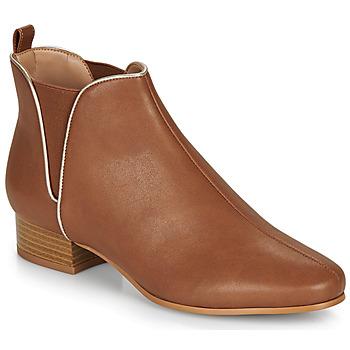 Schoenen Dames Laarzen André VERVEINE  camel