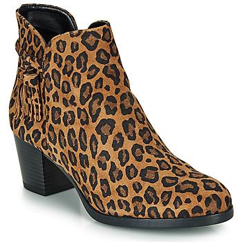 Schoenen Dames Enkellaarzen André MARYLOU Leopard