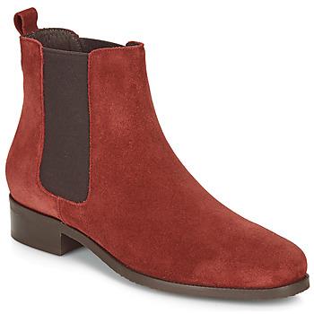 Schoenen Dames Laarzen André CHATELAIN Rood