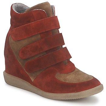 Schoenen Dames Hoge sneakers Meline IMTEK BIS Brown / Rood