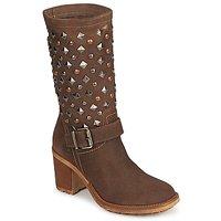 Schoenen Dames Hoge laarzen Meline DOTRE Brown