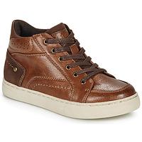 Schoenen Jongens Hoge sneakers André FABOU Brown