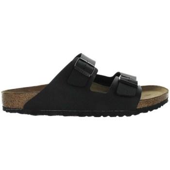 Schoenen Heren Leren slippers Birkenstock Arizona Noir, Marron