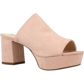 Schoenen Dames Leren slippers Chika 10 CLOE 02 Roze