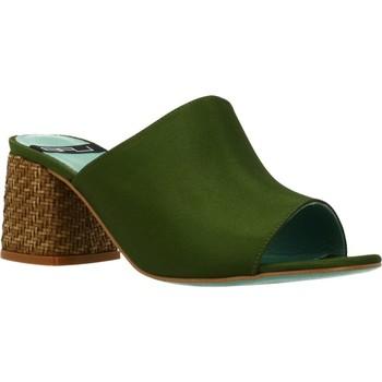 Schoenen Dames Leren slippers Lab 18254 431 Groen
