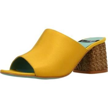 Schoenen Dames Leren slippers Lab 18254 431 Geel