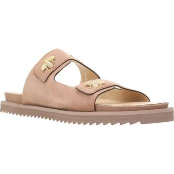 Schoenen Dames Leren slippers Elvio Zanon H0501P Roze