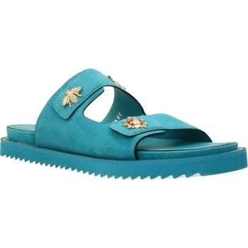 Schoenen Dames Leren slippers Elvio Zanon H0503P Blauw
