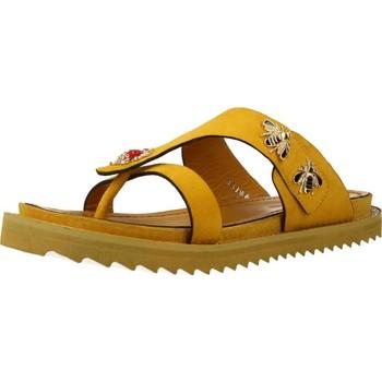 Schoenen Dames Leren slippers Elvio Zanon H0504P Geel