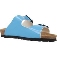 Schoenen Dames Leren slippers Antonio Miro 316603 Blauw
