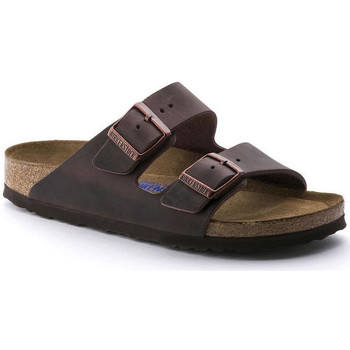 Schoenen Heren Leren slippers Birkenstock Arizona sfb cuir gras Brown
