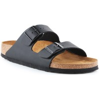Schoenen Heren Leren slippers Birkenstock Arizona Beige, Graphite
