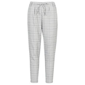 Textiel Dames Chino's Only ONLPOPTRASH Zwart / Wit