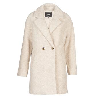 Textiel Dames Mantel jassen Only ONLNINA Beige