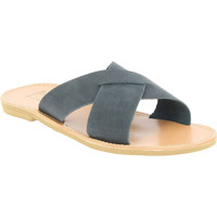 Schoenen Heren Leren slippers Attica Sandals ORION NUBUCK BLACK nero