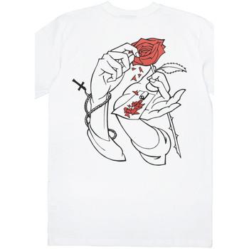 Textiel Heren T-shirts korte mouwen Jacker Holy roses Wit