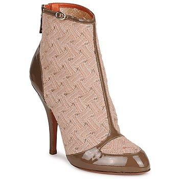 Schoenen Dames Enkellaarzen Missoni LISCIA Beige / Brown