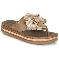Schoenen Dames Slippers Think ZEGA Beige