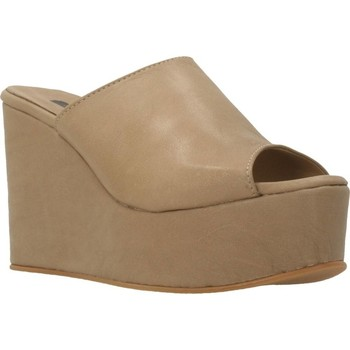 Schoenen Dames Leren slippers Clover 89822 Bruin