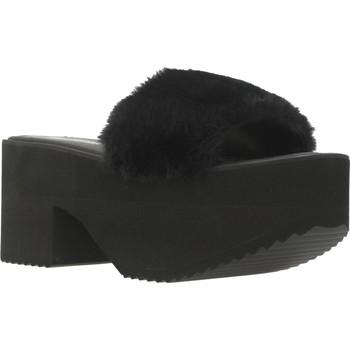 Schoenen Dames Leren slippers Clover 89835 Zwart