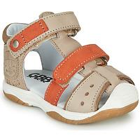 Schoenen Jongens Sandalen / Open schoenen GBB EUZAK Beige / Orange