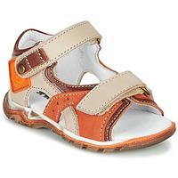 Schoenen Jongens Sandalen / Open schoenen GBB EROPE Beige / Orange
