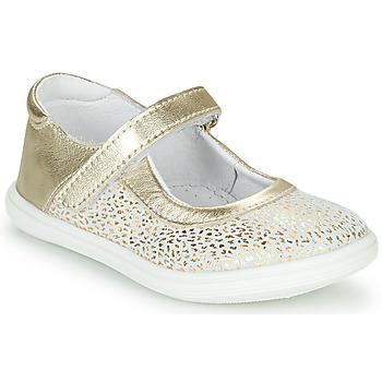 Schoenen Meisjes Ballerina's GBB PLACIDA Wit / Goud
