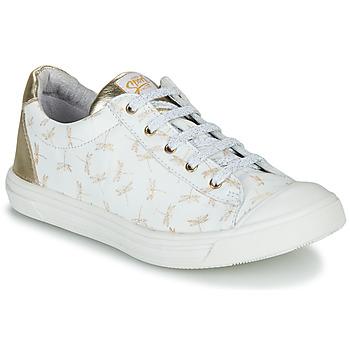 Schoenen Meisjes Lage sneakers GBB MATIA Wit / Goud