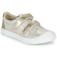 Schoenen Meisjes Lage sneakers GBB NOELLA Wit / Goud