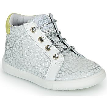 Schoenen Meisjes Hoge sneakers GBB FAMIA Zilver
