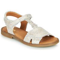 Schoenen Meisjes Sandalen / Open schoenen GBB FARENA Wit / Goud