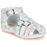 Schoenen Meisjes Sandalen / Open schoenen GBB RIVIERA Wit / Roze