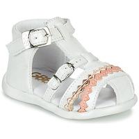 Schoenen Meisjes Sandalen / Open schoenen GBB ALIDA Wit