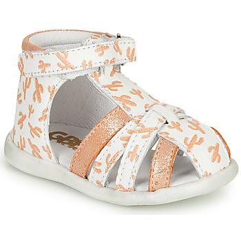 Schoenen Meisjes Sandalen / Open schoenen GBB AGRIPINE Wit / Orange