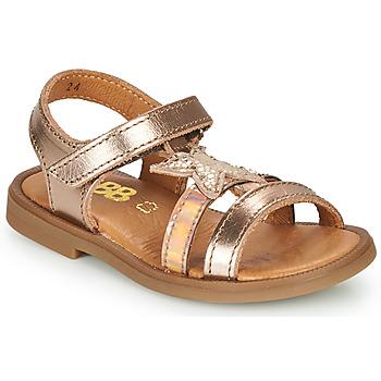 Schoenen Meisjes Sandalen / Open schoenen GBB OLGA Roze / Gold