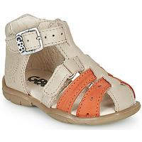 Schoenen Jongens Sandalen / Open schoenen GBB BORETTI Beige / Orange