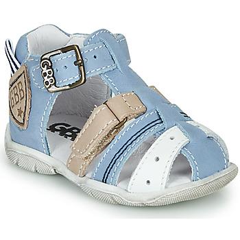 Schoenen Jongens Sandalen / Open schoenen GBB BYZANTE Blauw / Grijs
