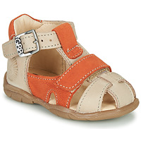 Schoenen Jongens Sandalen / Open schoenen GBB SEROLO Beige / Orange