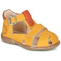 Schoenen Jongens Sandalen / Open schoenen GBB SEROLO Geel / Orange