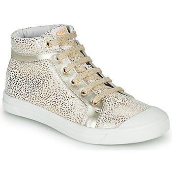 Schoenen Meisjes Hoge sneakers GBB NAVETTE Wit / Goud