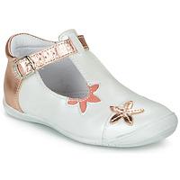 Schoenen Meisjes Ballerina's GBB ANAXI Wit / Roze / Gold