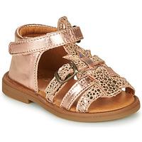 Schoenen Meisjes Sandalen / Open schoenen GBB CARETTE Roze / Gold