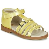 Schoenen Meisjes Sandalen / Open schoenen GBB ANTIGA Geel