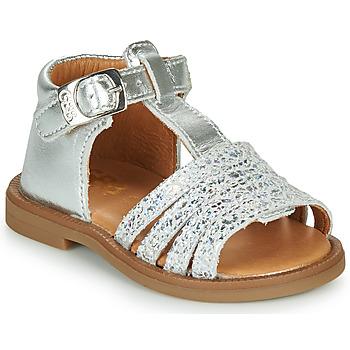 Schoenen Meisjes Sandalen / Open schoenen GBB ATECA Zilver