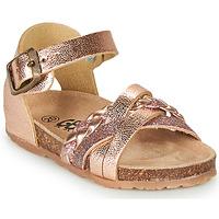 Schoenen Meisjes Sandalen / Open schoenen GBB ALECTA Roze / Gold